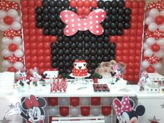 decoração de aniversario da minnie com baloes