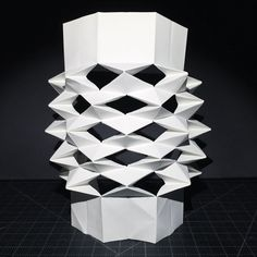 by @hyperqbert #next_top_architects #origami #kirigami #kinetic #surface #structure #folding #3dmodel #biomimicry #art #design #architecture #shell #geometry #concept #sculpture #abstractart...