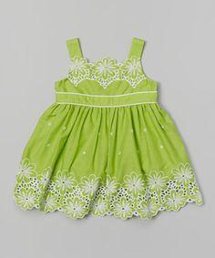 Love this Sweet Heart Rose Green Daisy Dress - Infant by Sweet Heart Rose on #zulily! #zulilyfinds