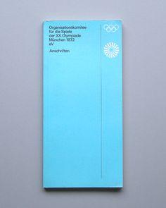 1972 Munich Olympics Brochures & Leaflets Designed by Otl Aicher