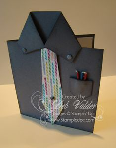 Tutorial for Fun Fold Masculine Card by djlab - Cards and Paper Crafts at Splitcoaststampers