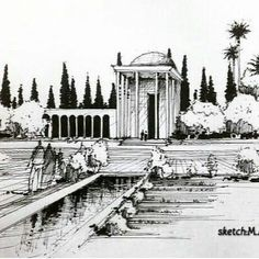 Artist:@m.ansari.architect متن هم ازصفحه ایشونه Tomb of #sadi_shirazi #iran #shiraz #poetry#Persian #Mysticism#Logic#Ethics#sufism آرامگاه سعدی...... معمار : محسن فروغی #محسن_فروغی معمار مدرنیستی بود که به تاریخ و پیشینه ی فرهنگی ایران عشق می ورزید. او برداشت فرمال و ظاهری از تاریخ را سطحی نگری همکاران جوان خود می دانست و بر این عقیده بود که رابطه ی ساختمان ها را از نظر سبک و شکل می توان به دو دسته تقسیم کرد: رابطه ظاهری و رابطه حقیقی. برای فروغی، رابطه ظاهری به مانند ساختمان های ساخته…