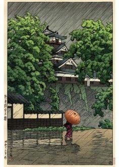 Ливень вечерний –  На землю спешат муравьи  По стволам бамбука…