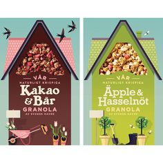 I illustrated some elements for the Brand Me redesign of Sweden's Start Cereal