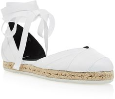Pierre Hardy White Leather and Fabric Bauhaus Beach Espadrilles