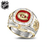 Shop The Bradford Exchange for Montreal Canadiens® Diamond Ring. With an astounding 24 Stanley Cup® wins over their history, the Montreal Canadiens® have set the standard for excellence and thrilled their fans from the days of the Original. Pens Hockey, Hockey Memes, Funny Hockey, Hockey Stuff, Montreal Canadiens, Stanley Cup Rings, Super Bowl Rings, Nhl Players, Championship Rings