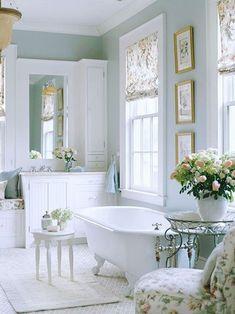 Décor do dia: banheiro provençal - Casa Vogue | Décor do dia
