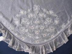 хорошо муслин вышитая треугольный платок с баксов точка Бобинное кружево могу 1830 in Антиквариат, Текстиль для дома (до 1930 г.), Кружево, вязание крючком, Другое антикварное кружево и вязаные вещи | eBay