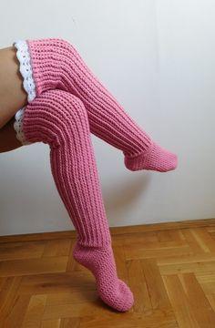 Over the knee socks, crochet knee high socks