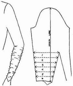 ruched sleeve pattern