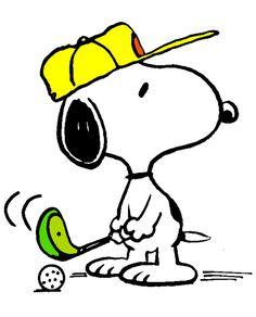 Snoopy golfing