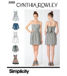 Simplicity Pattern 2250H5-Cynthia Rowley Misses Dresses-Sz 6-14 at Joann.com