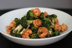 After grilling broccoli once, you're going to wonder why you've never thought of cooking it this way before. (Low Carb Shrimp And Broccoli) Grilled Broccoli, Shrimp And Broccoli, Broccoli Salad, Grilled Shrimp, Hcg Recipes, Cooking Recipes, Healthy Recipes, Cooking Ideas, Easy Recipes