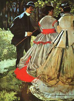 Le Dejeuner Sur Lherbe The Picnic Detail  Claude Oscar Monet