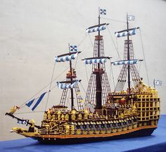 Lego Model of a Galleon from the Spanish treasure fleet (Flota). Theses fleets carried the silver mined in Peru to Spain, allowing the Spanish to maintain and expand their empire
