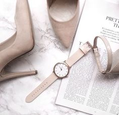 light grey/taupe | nudes & neutrals | grey heels | grey watch | rose-gold Fifth timepiece | The Fifth Watches | minimal, simple, classic