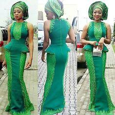 Aso Ebi Long Gown Styles For Smart Ladies ~ African fashion, Ankara, kitenge, Kente, African prints, Braids, Asoebi, Gele, Nigerian wedding, Ghanaian fashion, African wedding ~DKKhttp://www.dezangozone.com/2016/08/aso-ebi-long-gown-styles-for-smart.html
