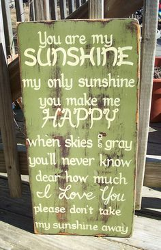 You are my Sunshine SIGN Subway Distressed by WeHaveAGreatNotion, $44.00