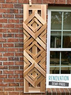 Want designer shutters without the designer-cost? Check out this tutorial and get inspired to go beyond basic and create your own DIY custom shutters! #shutters Custom Shutters, Diy Shutters, Wooden Shutters Exterior, Modern Shutters, Cedar Shutters, Exterior Windows, Green Shutters, Rustic Exterior, Exterior Paint