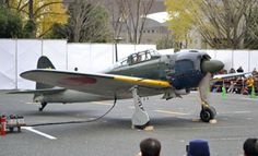 "The world's only fully operational World War II Zero fighter plane, specially shipped from the United States to the Tokorozawa Aviation Museum in Saitama Prefecture, gets an engine runup during an exhibition that started Saturday. The U.S. Marines captured the aircraft, a model the Allies called the ""Zeke,"" intact on Saipan in the Northern Mariana Islands in 1944."