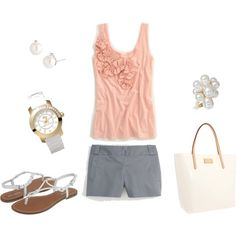 White Accessory Summer, created by sarahbear2214 on Polyvore