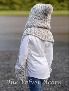 Crochet bufanda encapuchada de la Cumbre de por Thevelvetacorn Más