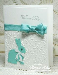 Saturday, August 9, 2014 Bunny Baby by bon2stamp - Cards and Paper Crafts at Splitcoaststampers Stitched Bunnies die (Lil' Inkers) http://bon2stamp.blogspot.ca/2014/08/getting-dirty-at-splitcoaststampers.html