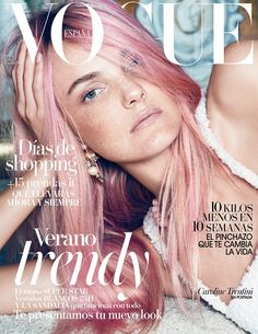 Vogue Spain July 2015 Cover (Vogue Espana) [] All people in this magazine cover : Paola Kudacki - Photographer , Belen Antolin - Fashion Editor/Stylist , Kevin Ryan - Hair Stylist , Benjamin Puckey - Makeup Artist , Caroline Trentini - Model Vogue Magazine Covers, Fashion Magazine Cover, Fashion Cover, Vogue Covers, V Magazine, Beauty Magazine, Vogue Spain, Vogue Korea, Hayden Williams
