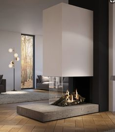 Great focal fireplace with 300 degree view Source by mostprinzessin – Großer 300 Grad Kamin Quelle: Mostprinzessin – Home Fireplace, Modern Fireplace, Fireplace Design, Fireplace Candles, Fireplaces, Home Interior Design, Home Accessories, Living Room Decor, House
