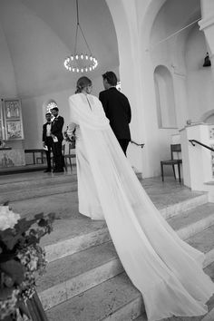 Stylist Alex Carl Swapped A Veil For A Cape At Her Copenhagen Wedding - Page 2 Wedding Cape Veil, Bridal Cape, Wedding Dress Sleeves, Bridal Gowns, Wedding Gowns, Dresses With Sleeves, Chic Wedding, Wedding Bride, Wedding Styles