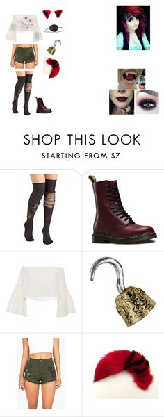 """""""Female human! Foxy // Five Nights At Freddy's 1"""" by shadow-182 on Polyvore featuring Dr. Martens, Rosetta Getty, Vibrant, KAOS, Vision and Maison Kitsuné"""