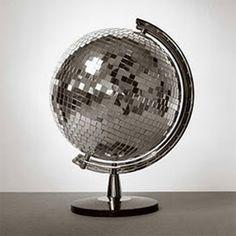 Disco ball globe.