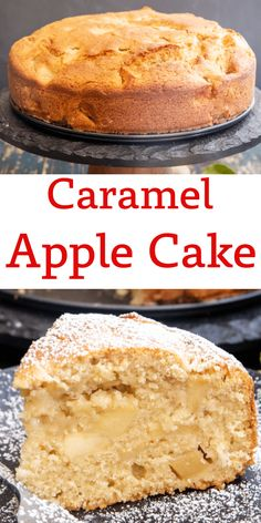 This delicious Caramel Apple Cake is made with a caramelized apple filling.  The perfect fall cake you will love it plain or make it extra special with a scoop of vanilla ice cream. Your new anytime occasion cake recipe. Apple Cake Recipes, Honey Recipes, Baking Recipes, Dessert Recipes, Kitchen Recipes, Fall Recipes, Healthy Recipes, Best Apples For Baking, French Apple Cake