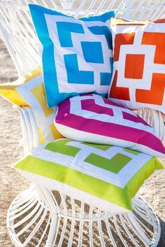 Neon block pillows!!