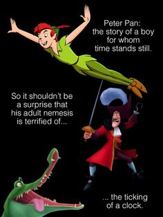 Am I the only one that thought of The Doctor? OMG WAIT PETER PAN IS A FLIPPING TIMELORD CHILDHOOD RUINED BRAIN EXPLODED WENDY WAS HIS COMPANION AND OHMYGOD I SWEAR TO GOD I AM SO DONE. DONE DONE DONE.