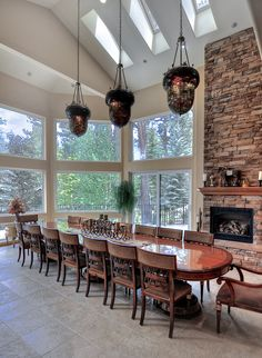 Big Bear Cabin #8 Estate by the Lake 6Bed/5.5 Bath with Private Pool! Great for Summer! To Book call (310) 800-5454 or click the image! #bigbear #california #vacation #pool #5starvacation #dining #acorn #view #skylight