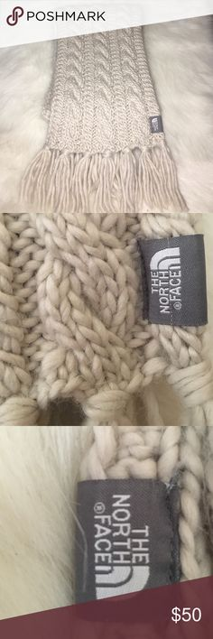 25% off Bundles The North Face Cable Knit Scarf Beautiful cable knit North Face scarf.  Guaranteed to keep you nice and toasty.   Perfect for Friday Night Football games.    check out my other listings to bundle and save. EUC The North Face Accessories Scarves & Wraps