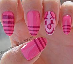 Nails Art Tutorials: Unghii cu Piglet - Piglet Nails