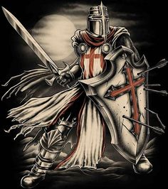 Discover Knight Templar Warrior Sweatshirt from Knight Templar Online, a custom product made just for you by Teespring. - Beautiful and quality Knight Templar. Angel Warrior, Fantasy Warrior, Fantasy Art, Templar Knight Tattoo, Crusader Knight, Christian Warrior, Warrior Tattoos, Armadura Medieval, Knight Art