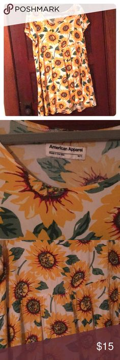 American apparel sunflower dress babydoll Used but good condition size M/L American Apparel Dresses Mini