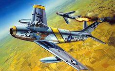 "F86F Sabre ""Mike's Bird"" Capt. Charles McSwain 1953"