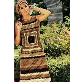 Granny Square Dress Pattern So Retro So Cool por CowichanValley