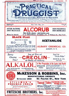 A 1922 print ad from The Practical Druggist