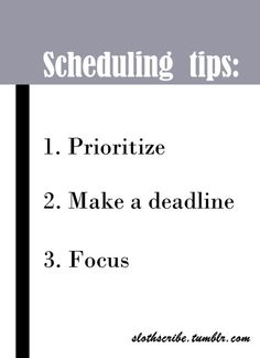 I mentioned here and here that I have a schedule and I use a planner for organization. Even with those, it's not that easy to set an efficient schedule, especially with all the things going on. Focus 3, Prioritize, Schedule, Organization, Tips, Easy, How To Make, Timeline, Getting Organized