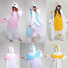 3 estilos trajes Helloween adulto rosa azul unicórnio pijama macacão com capuz Anime pijamas animais Cosplay em Conjuntos de Pijama de Roupas e Acessórios no AliExpress.com | Alibaba Group