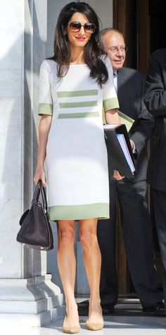 Look of the Day - October 14, 2014 - Amal Clooney from #InStyle