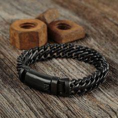 I need this matte black stainless steel bracelet