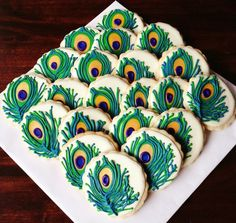 Peacock Indian Wedding Cake - Vibrant, hand-painted peacock feathers on a three-tiered stunners. Description from pinterest.com. I searched for this on bing.com/images