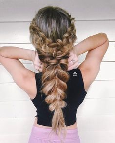 Dutch braids and loose rope hairstyle,,,easy half up half down hairstyles,boho hairstyles,easy hairstyle do it yourself at home