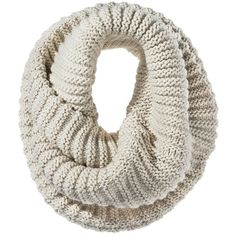 Mossimo Twisted Neck Snood Scarf - Ivory ($16) ❤ liked on Polyvore featuring accessories, scarves, accessories - scarves, snood scarves, chunky knit scarves, tie scarves, ivory shawl and thick knit scarves